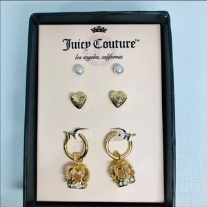 Juicy Couture 3 Pairs Earring Set